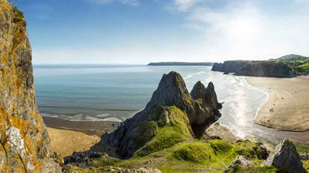 Seaside adventures - maybe in Gower Peninsula, Wales; Image Credit: Visit Britain
