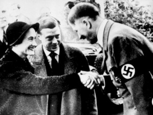 King Edward VIII and Wallis Simpson meeting Hitler; Image credit: independent.co.uk