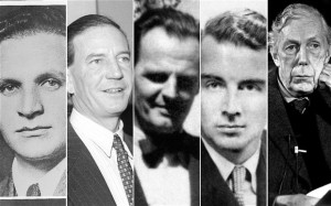 The Cambridge Five: Arnold Deutsch, Kim Philby, Donald Maclean, Guy Burgess and Anthony Blunt; Image credit: telegraph.co.uk