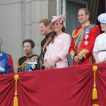 The British royal family on the balcony of Buckingham Palace, June 2013