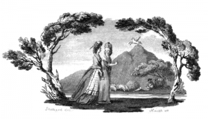 "Allegorical vignette for a collection of British poetry. Source: ""Lady's Poetical Magazine or Beauties of English Poetry"", London 1781 (https://archive.org/stream/ladyspoeticalmag01londiala#page/n6/mode/1up). Author: Stothart, illustrator; Heath, engraver. Image published under public domain."