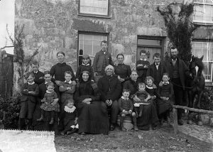 John Thomas, [Large family group, Chwilog]